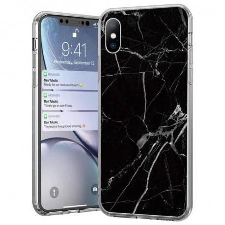 Wozinsky Marble żelowe etui pokrowiec marmur Samsung Galaxy A70 czarny